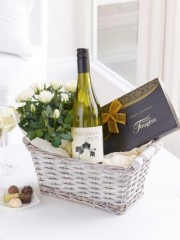 Luxury White Wine Gift Basket